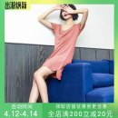 Nightdress Shengfen White, silver, black, lotus root, yellow, green, blue and purple 160(M),165(L),170(XL) Simplicity Short sleeve Leisure home Middle-skirt summer Solid color youth Crew neck viscose  One piece More than 95% Modal fabric 220g