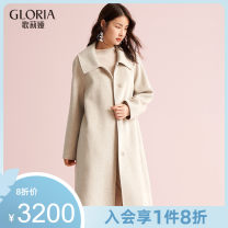 woolen coat Winter of 2019 S M L 61Y shallow camel 33H shallow flower apricot wool 31% (inclusive) - 50% (inclusive) have more cash than can be accounted for Long sleeves commute Buckle other other Straight cylinder Simplicity 19NC6E010 Gloria / golia 25-29 years old pocket