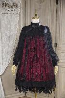 Lolita / soft girl / dress Boguta Cyanosis, dark green, purple S dress, m dress, l dress, s dress + star collar, m dress + star collar, l dress + star collar