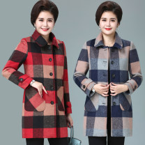 woolen coat Winter of 2019 L (90-105 kg recommended), XL (105-120 kg recommended), 2XL (120-135 kg recommended), 3XL (135-150 kg recommended), 4XL (150-165 kg recommended), 5XL (165-180 kg recommended) wool 31% (inclusive) - 50% (inclusive) Medium length Long sleeves commute Single breasted routine
