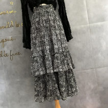 skirt Winter 2020 Average size Blue, coffee, black, off white, apricot Mid length dress Versatile Natural waist Cake skirt Broken flowers Type A 25-29 years old 722 Chiffon floral skirt 71% (inclusive) - 80% (inclusive) Chiffon cotton fold