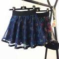 skirt Summer of 2019 Elastic waist 1'8-2'3 Gauze skirt, gauze skirt, blue leaf, purple orchid, dark red, black and white, black leaf, little star Short skirt Versatile High waist Umbrella skirt Decor Type A 18-24 years old 17-S317(04-4) 31% (inclusive) - 50% (inclusive) other nylon