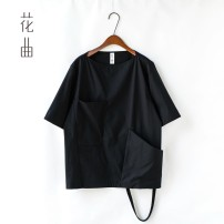 T-shirt Fashion City Black, white routine M. L, XL, 2XL, tips: the maximum size is not recommended to exceed 170 Jin Others elbow sleeve other easy daily summer Non brand