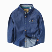shirt male spring and autumn Long sleeves leisure time Solid color Pure cotton (100% cotton content) Lapel and pointed collar Cotton 100% Class B