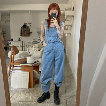 Jeans Spring 2021 Denim blue Average size trousers Straight pants routine 18-24 years old washing stylenanda 96% and above