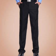 Western-style trousers Business gentleman black JH01 trousers Straight cylinder autumn go to work youth Autumn 2014 polyester fiber 50% (inclusive) - 69% (inclusive)
