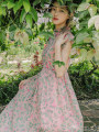 Dress Summer 2020 Lotus root Pink S,M,L Middle-skirt singleton  Sleeveless commute Doll Collar High waist Hand painted zipper Big swing routine Others 25-29 years old Type A To my love rural 71% (inclusive) - 80% (inclusive) Chiffon
