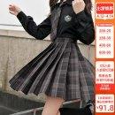 skirt Winter 2020 XS,S,M,L,XL Short skirt Versatile High waist A-line skirt lattice Type A 18-24 years old JK070 More than 95% other Sennu tribe polyester fiber Fold, pocket, zipper, stitching