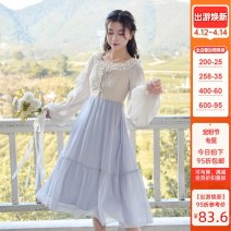 Fashion suit Spring 2021 S,M,L Light apricot, grey blue 18-25 years old Sennu tribe Y1918b2 96% and above polyester fiber