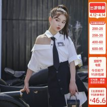 Fashion suit Summer 2020 XS,S,M,L White, black 18-25 years old Sennu tribe 96% and above polyester fiber