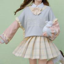 skirt Autumn 2020 XS,S,M,L,XL Short skirt Sweet High waist A-line skirt lattice Type A 18-24 years old JK001b2 More than 95% other Sennu tribe polyester fiber Pocket, zipper, stitching Mori