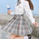skirt Autumn 2020 XS,S,M,L,XL Short skirt Versatile High waist A-line skirt lattice Type A 18-24 years old JK010 other Sennu tribe polyester fiber Fold, pocket, tridimensional decoration, zipper, stitching