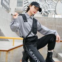 Fashion suit Spring 2021 S,M,L Gray, black 18-25 years old Sennu tribe Y1702a2 96% and above cotton