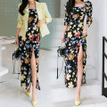 Dress Summer of 2019 Decor S,M,L,XL longuette singleton  three quarter sleeve commute square neck High waist Decor zipper One pace skirt Princess sleeve Others 18-24 years old Other / other Korean version 30% and below