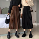 skirt Winter 2020 Average size Black, brown Middle-skirt Sweet Natural waist A-line skirt Solid color Type A 18-24 years old 9689# 51% (inclusive) - 70% (inclusive) other Other / other polyester fiber Splicing Mori