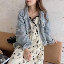 Fashion suit Spring 2021 Average size Denim Jacket M, denim jacket L, dress 18-25 years old