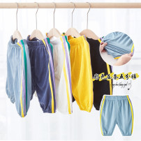 trousers Taodou male 100cm, 110cm, 120cm, 130cm, 90cm (can be opened) White, yellow, black, light blue, dark blue summer Pant leisure time No model Casual pants Leather belt middle-waisted nylon Don't open the crotch Viscose fiber 63.6% polyamide fiber 36.4% DKTZB034