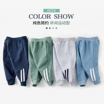 trousers Taodou male 90cm,100cm,110cm,120cm,130cm Gray, blue, green, navy spring and autumn trousers motion No model Sports pants Leather belt middle-waisted Pure cotton (100% content) Open crotch Cotton 100% KZONC010 Chinese Mainland