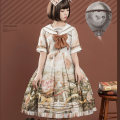 Lolita / soft girl / dress balladeer Lace at the hem, no lace at the hem S,M,L,XL goods in stock