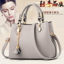 Bag handbag cowhide Killer bag Posture and Tao brand new European and American fashion in leisure time soft zipper no Solid color Single root Yes middle age Horizontal square flower Soft handle polyester fiber Double skin of cattle