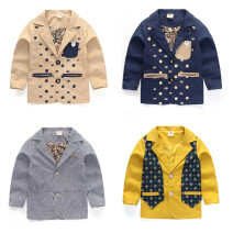 Suit / Blazer Other / other male No model leisure time spring and autumn Cartoon animation Single breasted routine Cotton blended fabric Three, four, five, six, seven, eight