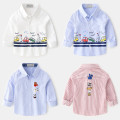 shirt Other / other male 90cm,100cm,110cm,120cm,130cm,140cm spring and autumn Long sleeves leisure time Cartoon animation cotton Lapel and pointed collar