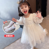 Dress White, pink female Other / other 90cm,100cm,110cm,120cm,130cm Other 100% spring and autumn Korean version Long sleeves Solid color cotton A-line skirt LYQ-5137 12 months, 6 months, 9 months, 18 months, 2 years old, 3 years old, 4 years old, 5 years old, 6 years old, 7 years old, 8 years old