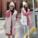 Dress Other / other White vest, black vest, orange sweater, watermelon red sweater M,L,XL Korean version Long sleeves Medium length autumn Crew neck letter