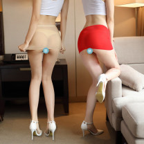 underpants female Average size Other / other 1 nylon low-waisted sexy Solid color youth