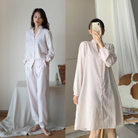 Pajamas / housewear set female Other / other S,M,L Nightdress, shirt, pants cotton Long sleeves routine
