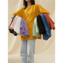 T-shirt Ginger, dark gray, light green, blue, light purple, light yellow, a white, I gray, b black, skin pink, orange M, L Summer 2021 Short sleeve Crew neck easy Regular routine Sweet cotton 96% and above Time travel SYF7115160520 college
