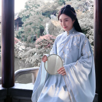 National costume / stage costume Autumn of 2018 Qiluoxiang's long jacket with wide sleeves and slant placket sold out, and qiluoxiang's one piece skirt S,M,L,XL