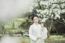National costume / stage costume Spring of 2019 Brocade book time than a spot, brocade book time with collar spot, brocade book time 12 broken skirt spot S,M,L,XL On Qi Fu