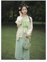 National costume / stage costume Summer 2020 White tea off white, white tea single skirt S,M,L On Qi Fu