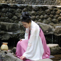 National costume / stage costume Summer of 2018 Ziyu is a scholar with wide sleeves, and Ziyu is a Ru skirt with a full chest S,M,L