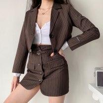 Fashion suit Spring 2021 S,M,L Black, coffee bar TZ00060 31% (inclusive) - 50% (inclusive) cotton