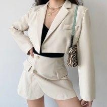 Fashion suit Winter 2020 S,M,L White, Khaki 18-25 years old polyester fiber
