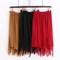 skirt Autumn 2020 Average size White, red, black, coffee, lake blue, turmeric, blue gray longuette Natural waist A-line skirt 51% (inclusive) - 70% (inclusive) other Allie Aixi