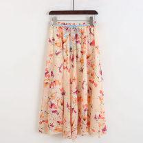skirt Summer 2020 M, L Cherry, butterflies and butterflies longuette A-line skirt 51% (inclusive) - 70% (inclusive) other Allie Aixi