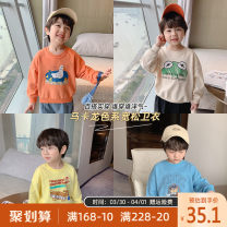 Sweater / sweater Qiqi Miaomiao Blue, yellow, orange, beige neutral 90cm,100cm,110cm,120cm,130cm spring and autumn nothing personality Socket routine There are models in the real shooting cotton Animal design Cotton 84.1% polyester 15.9% A211WY008 other