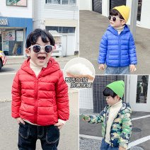 Down Jackets 90% White duck down Children, male Yiqi baby nylon have cash less than that is registered in the accounts No detachable cap Zipper shirt Solid color Polyamide fiber (nylon) 100% Polyamide fiber (nylon) 100% leisure time