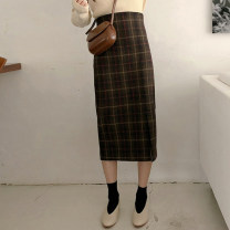 skirt Winter 2016 S, M Versatile High waist other lattice 18-24 years old 31% (inclusive) - 50% (inclusive) other wool
