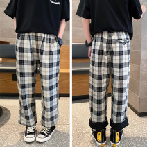 trousers Other / other neutral 110 / 110cm, 120 / 120cm, 130 / 130cm, 140 / 140cm, 150 / 150cm, 160 / 160cm Black gray grid spring and autumn trousers There are models in the real shooting Casual pants Leather belt middle-waisted other Don't open the crotch Class B Chinese Mainland Zhejiang Province