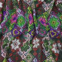 Fabric / fabric / handmade DIY fabric chemical fiber Decor Loose shear piece Geometric pattern Yarn dyed weaving clothing Europe and America Lydia Huang
