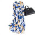 Dress Spring 2021 Mid length dress singleton  Long sleeves commute Crew neck Loose waist Socket Type H Pu Xu Retro