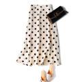 skirt Summer of 2019 S,M,L,XL Apricot bottom black spot, black bottom white spot Mid length dress commute Natural waist Type H F0159 More than 95% Pu Xu silk zipper Retro