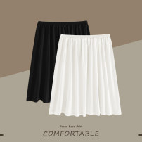 skirt Spring 2021 F-ONE, D-plus 38cm white, 38cm complexion, 38cm black, 45cm white, 45cm complexion, 45cm black, 55cm white, 55cm complexion, 55cm black, 65cm white, 65cm complexion, 65cm black Middle-skirt commute Natural waist A-line skirt Solid color Type A 18-24 years old CQ0011 other other