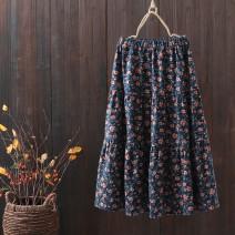skirt Spring 2020 Average size Green mosaic, blue mosaic Mid length dress Natural waist Broken flowers 25-29 years old