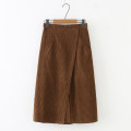 skirt Autumn 2020 M, L Coffee, black longuette commute High waist A-line skirt Solid color Type A 25-29 years old Wool polyester fiber pocket literature