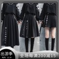 skirt Autumn 2020 S,M,L Mid length dress street Natural waist Pleated skirt Other / other navy